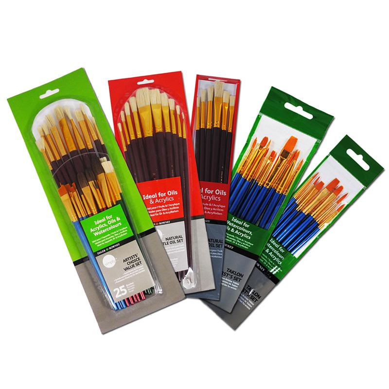 7 10 25 tlg pinselset pinsel set pinsel set acrylfarbe. Black Bedroom Furniture Sets. Home Design Ideas