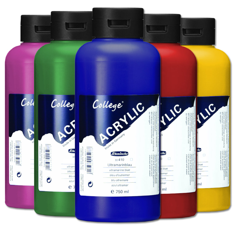 acrylfarbe schmincke college 750ml farben acrylfarben farbe k nstlerfarbe acryl ebay. Black Bedroom Furniture Sets. Home Design Ideas