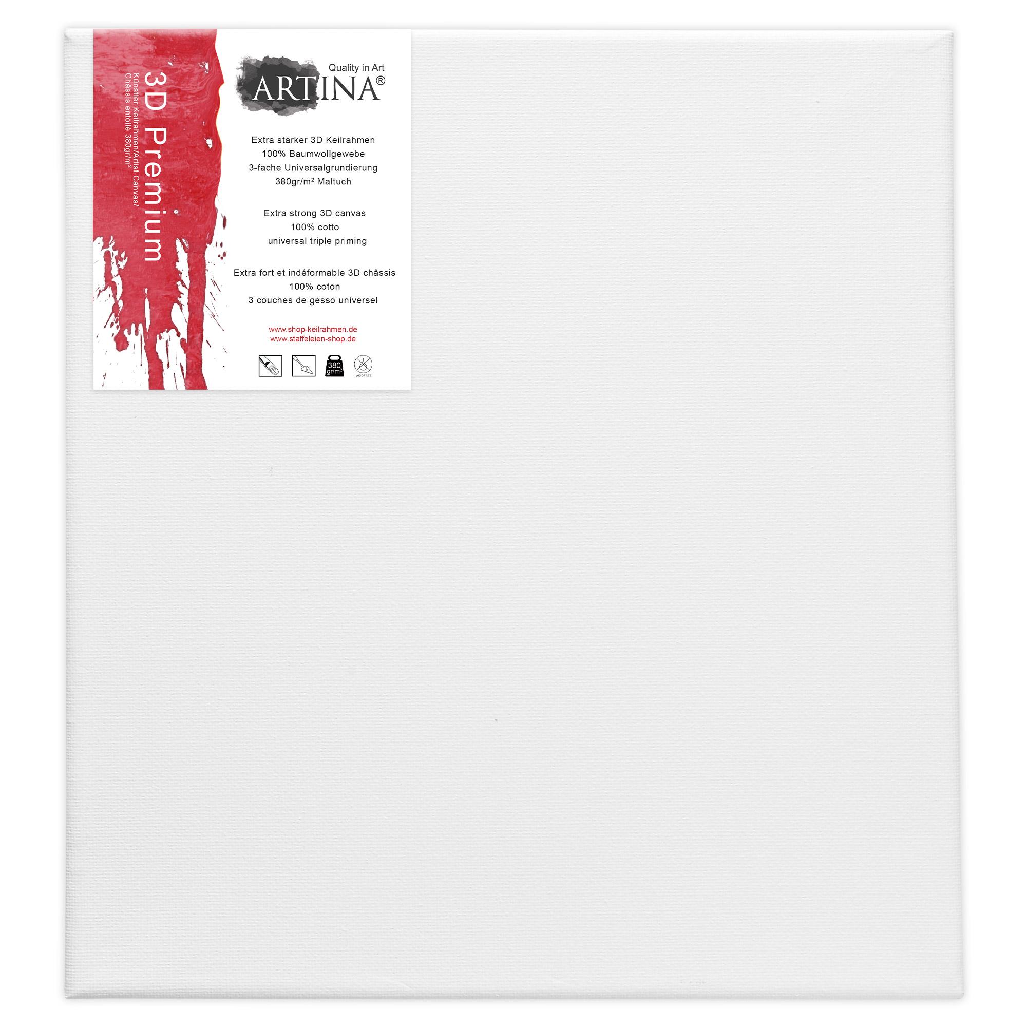3d premium leinwand auf keilrahmen von artina leinw nde 100 baumwolle zum malen ebay. Black Bedroom Furniture Sets. Home Design Ideas