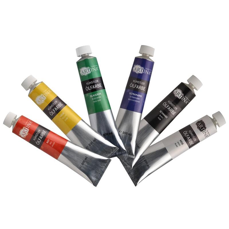 ARTINA Ölfarben Sets Künstlerfarbe à 200 ml Profi Farben Öl Malerei ...